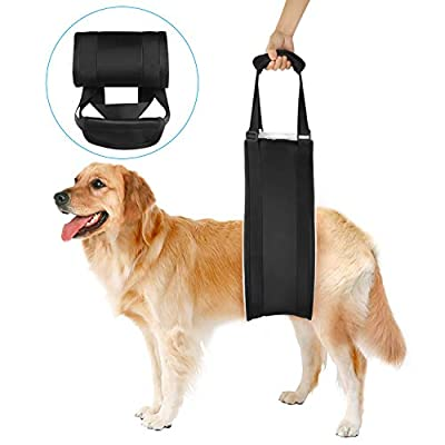 Wodifer Dog Lift Sling Vet Approved 2019 New Dog Harness Adjustable Back Legs Hip Support Sling for Canine Aid Arthritis Old K9 Senior Injured Disabled Dog Poor Stability Dogs Walk