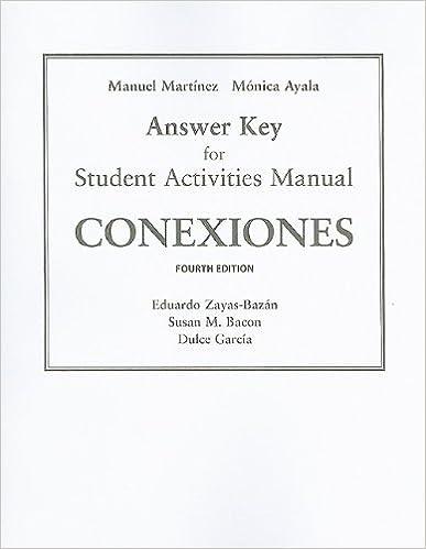 Amazon sam answer key for conexiones comunicacion y cultura sam answer key for conexiones comunicacion y cultura 4th edition fandeluxe Images