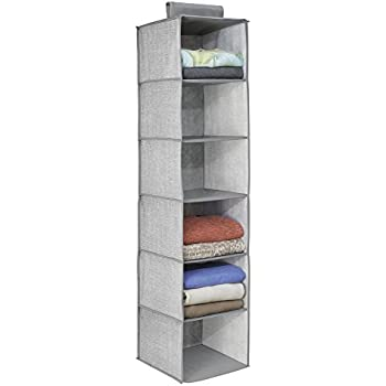 InterDesign Aldo Fabric Hanging Closet Storage Organizer, For Clothing,  Sweaters, Shoes, Accessories