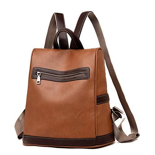 Shoulder AgrinTo Bag Bag Satchel Travel Brown Leather School Vintage Clearance Backpack Women's gHEzc