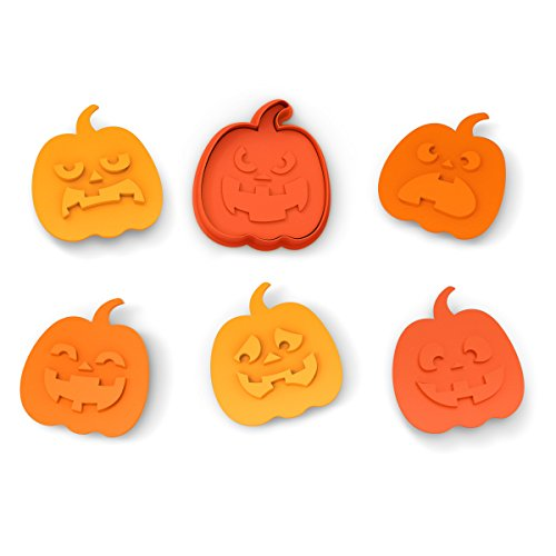 Fred SNACK-O-LANTERN Cookie Cutter/Stampers, Set of 6 - Pumpkin Shortbread Cookies