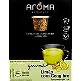 Cápsulas Chá Aroma Limão com Gengibre Aroma Selezione Sabor Outro, 10 Cápsulas