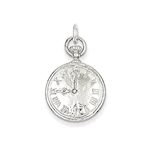 Sterling Silver Clock Charm