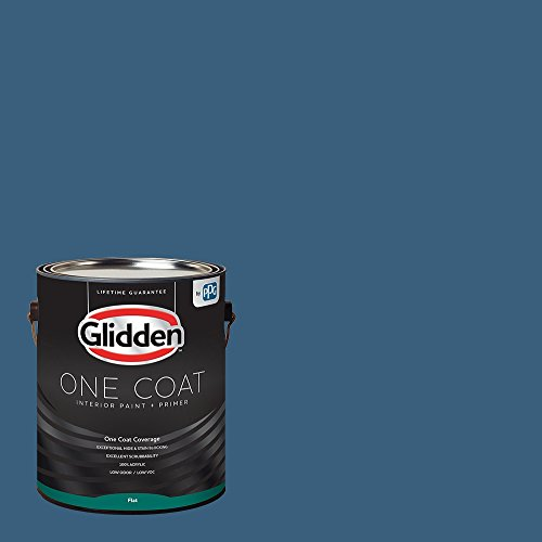 Glidden Interior Paint + Primer: Blue/Chinese Porcelain, One Coat, Flat, - 01 Flat Interior Paint