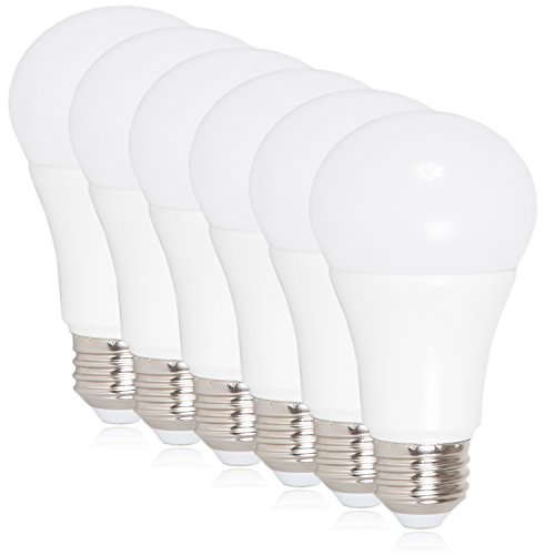 Maxxima LED A19 - 800 Lumens 60 Watt Equivalent Daylight Cool White (5000K) Light Bulb, 10 Watts (Pack of 6)