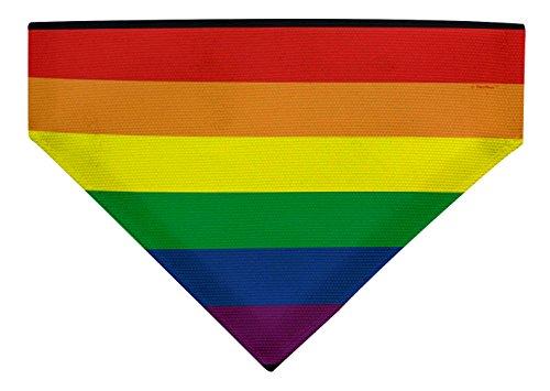 (ThisWear Pride Dog Accessories Rainbow Dog Clothes Pride Flag Scarf Small Dog Bandana Scarf Dogs Bib Rainbow)