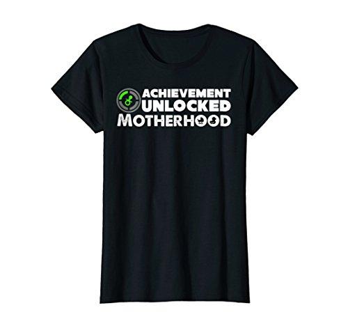 Womens Motherhood Shirt Achievement Unlocked Motherhood T Shirt