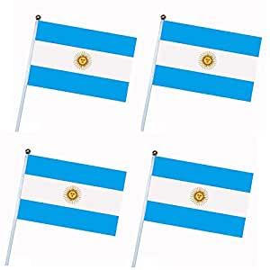 4 Pcs 2018 Russian FIFA World Cup 32 Teams National Flag Country World Banner Bunting for Bar Home Party Supermarket Decoration Argentina