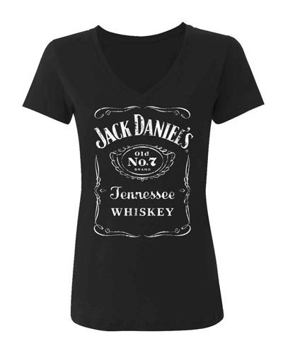 Jack Daniels Women's Daniel's Logo Tee Black Medium