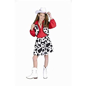 Amazoncom Child Cowgirl Vest Shirt And Skirt Toys Games