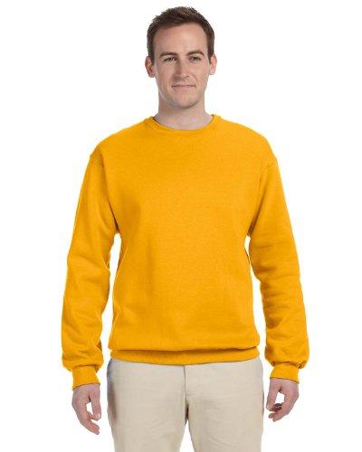 Jerzees Men's NuBlend Crew Neck Sweatshirt, Gold, (Gold Crew Sweatshirt)