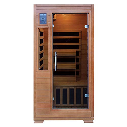 Expect More Hemlock Infrared Sauna with 5 Carbon Heaters: 1-2 Person Capacity (SA3202)