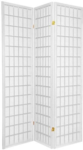 Legacy Decor 3 Panel Japanese Oriental Style Room Screen Divider White Color -