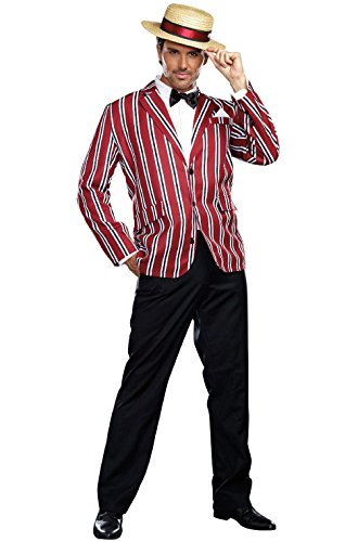 [Mememall Fashion 1920's Retro Men Boardwalk Stylish Good Time Charlie Adult Costume] (Wicked Jester Deluxe Adult Mens Costumes)