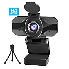 PIPHU Webcam with Microphone 1080P Webcam for Desktop Laptop Web Cameras for Computers Computer Camera for Zoom WebEx…