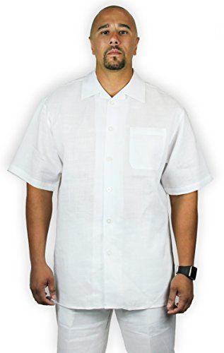 Blue Ocean Two-Piece Linen Set: Shirt and Short Pants.