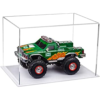 Better Display Cases Versatile Clear Acrylic Display Case - Medium Rectangle Box with White Base 12