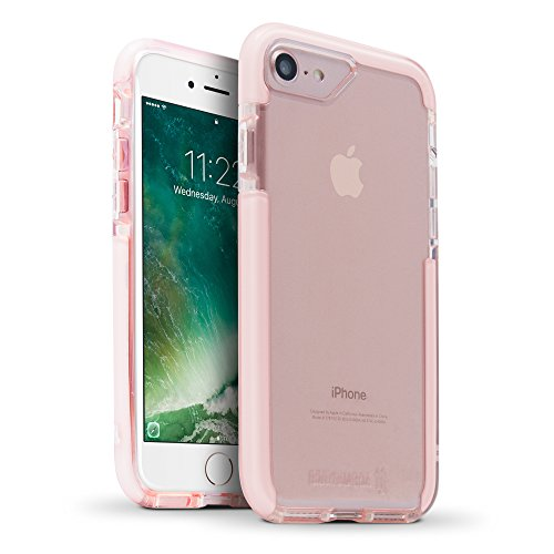 BodyGuardz - Ace Pro Case, Extreme Impact and Scratch Protection for iPhone 7 (Pink/White)