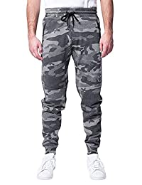 Brooklyn Athletics Mens Standard Men's Zipper Pocket Fleece Jogger Pants