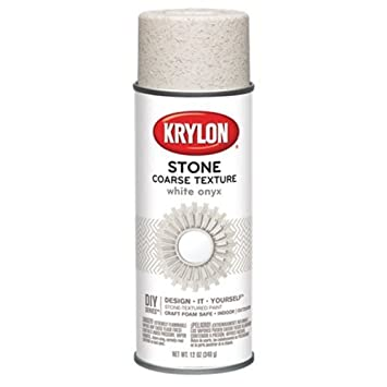 Krylon K18213 Coarse Stone Texture Finish Spray Paint White Onyx