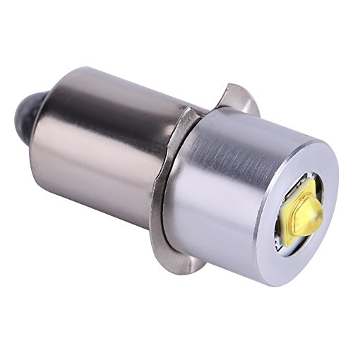 24v Flashlight - Zerodis 5W 6-24V P13.5S LED Flashlight Bulb, 200~210LM Replacement Bulb Torch Lamp Emergency Work Light