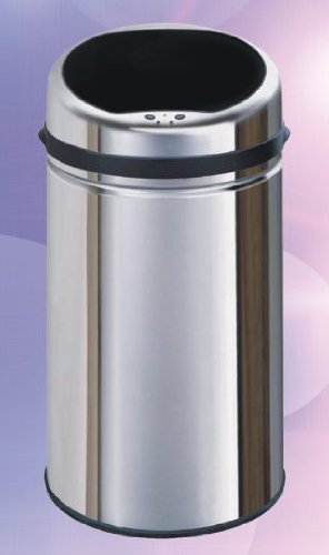 UZO1 STAINLESS STEEL TOUCHLESS TRASHCAN WITH AUTOMATIC OPENING LID (8 Gallon Capacity W / Heavy Gauge Steel & Inner Plastic Bucket) SUPERIOR QUALITY