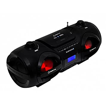 Manta MM274 Boombox - Dispositivo para reproducir música (Bluetooth, reproductor de CD, USB