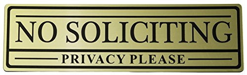 No Soliciting Privacy Please Sign (Gold)