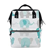 Baby Diaper Nappy Bag Travel Backpack Mommy Bag Elephants for Mom Dad M by Top Carpenter