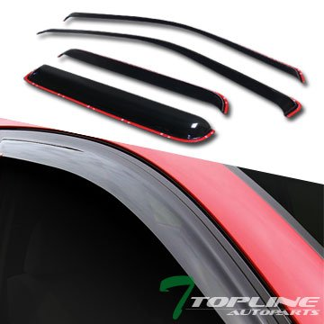 Chevy Colorado Vent (Topline Autopart In-Channel Vent Shade Window Visor 4Pc 04-12 Chevy Colorado/Gmc Canyon Crew Cab)