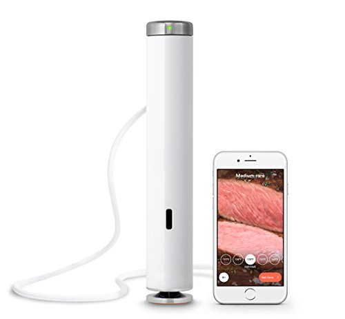 Hers Steak - ChefSteps Joule Sous Vide, 1100 Watts, White Body, Stainless Steel Cap & Base