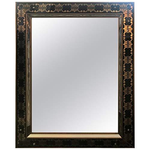 Hollywood Regency Style Églomisé Rectangular Wall/Console Mirror