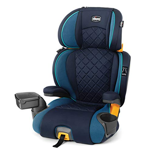 Chicco KidFit Zip Plus 2-in-1 Belt Positioning Booster Car Seat – Seascape, Blue