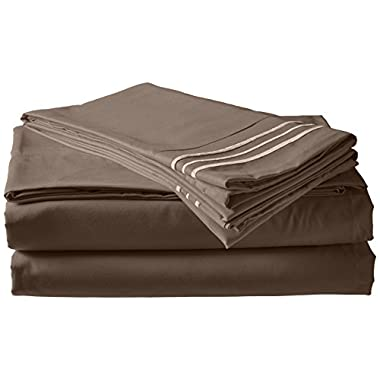 Elegant Comfort 1500 Thread Count Luxury Egyptian Quality Wrinkle and Fade Resistant 4-Piece Sheet Set, California King, Gray