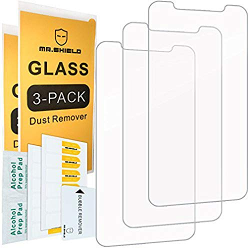 - [3-Pack]-Mr.Shield for iPhone Xs Max [Tempered Glass] Screen Protector [Japan Glass with 9H Hardness] with Lifetime Replacement