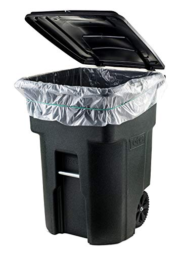 Plasticplace 64-65 Gallon Trash Can Liners for Toter │ 1.5 Mil │ Clear Heavy Duty Garbage Bags │ 50