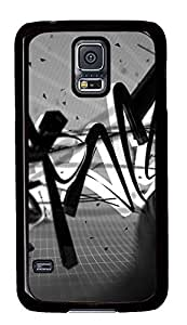 rubber Samsung S5 covers Background Text Black And Whites PC Black Custom Samsung Galaxy S5 Case Cover