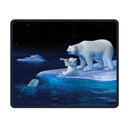 Wireless Mouse Pad, Coca Cola Polar Bears Mouse Pads, Foldable Mouse Pad Mat For Women Men At Home Or Work Fathers Day Gifts ()