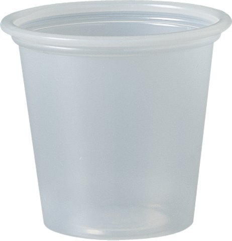 Solo Plastic Cups 1.25 oz Clear Portion Container for Food, Beverages, Crafts (Pack of 250) by Sold Individually