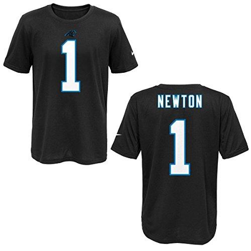 Nike Carolina Panthers Cam Newton Black Youth Player Pride Tee2 T-Shirt (Youth XL)