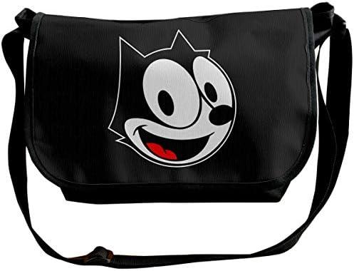 ショルダーバッグ スポーツバッグ ワンショルダー フィリックス アニメーションのキャラクター メッセンジャーバッグ 斜めがけ ボディバッグ 肩掛けバック 大容量 A4ファイル収納可能 多機能 日常お出かけ 通勤 通学 無地 メンズ カバン ユニセックス