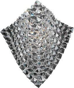 - ET2 E24270-20PC Wave 1-Light Wall Sconce, Polished Chrome Finish, Crystal Glass, G9 Xenon Bulb, 20W Max., Dry Safety Rated, 2900K Color Temp., Standard Dimmable, Acrylic Shade Material, 2000 Rated Lumens