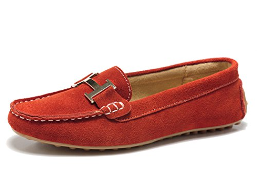 WUXING Christmas Women's New Slip-On European And American Style Casual Shoes(7 B(M)US, red)