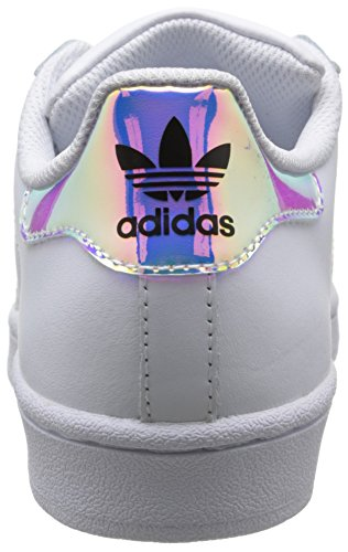 Silver Sld adidas BB2872 White Unisex White Metallic Bianco Sneakers Ftwr Superstar Originals Bambini Ftwr 7rwqO7