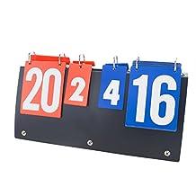 GOGO Portable Flip Scoreboard for Volleyball / Basketball / Table Tennis (7 Sets, 31 Scores)