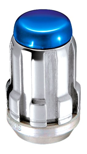 McGard 65357BC Chrome SplineDrive Lug Nuts with Blue Caps (M12 x 1.5 Thread Size) - Set of 4