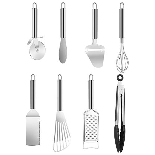 Stainless steel kitchen utensils set non-stick kitchen durable cookware best kitchen cooking ,8 Pacs