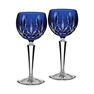 Amazon.com | Waterford Crystal Lismore Cobalt Blue Hock ...