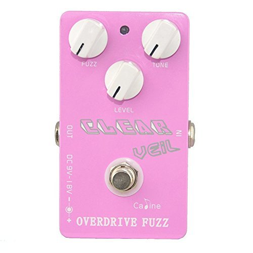 Caline USA CP-32 Clear Veil PINK Overdrive Fuzz Guitar Effect Pedal by Caline