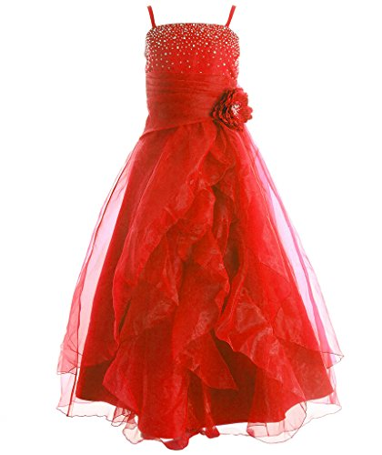 Red Tiered Dress - 6